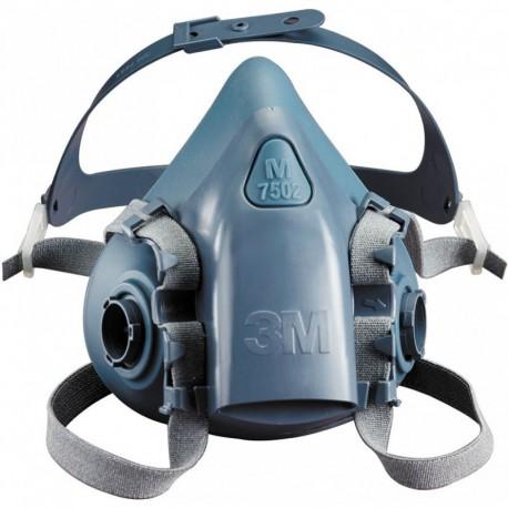 Demi masque 3M™ Série K7500 en silicone et système baïonnette  - Taille standard - K7502