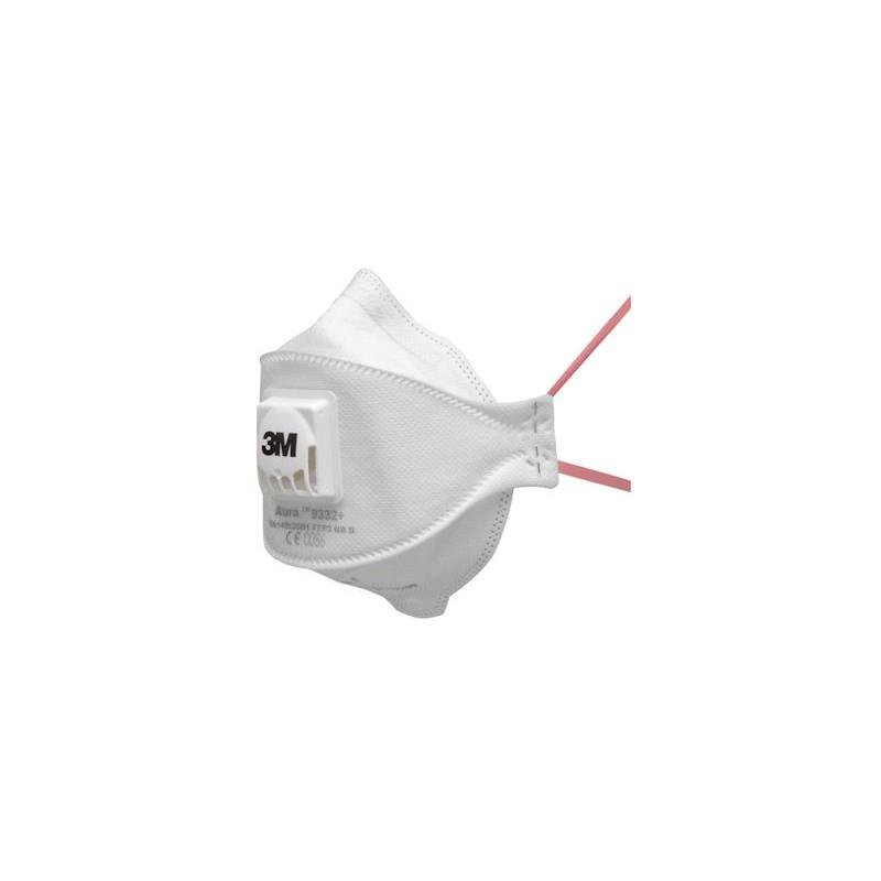 Masque anti poussières pliable 3M™ Série Aura Confort FFP3 NR D avec soupape Cool Flow -K9332+