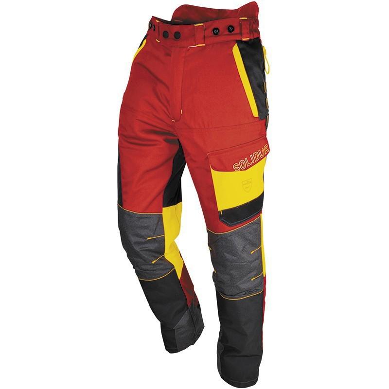 Pantalon SOLIDUR rouge et jaune Comfy Classe III