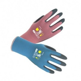 Gants de jardinage Fleur (bleu ou rose) en latex