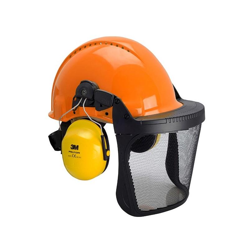 Combinaison G3000 Uvicator orange / basane cuir / coquilles Optime II