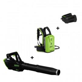 Souffleur 82V spécial batterie à dos + Batterie à dos + Chargeur