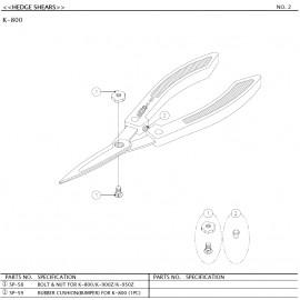 Cisaille à haies ARS K800
