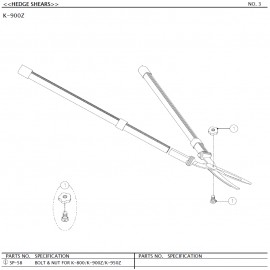 Cisaille à haies ARS K900Z