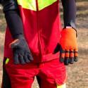 Gants tronçonneuse noir et orange SOLIDUR