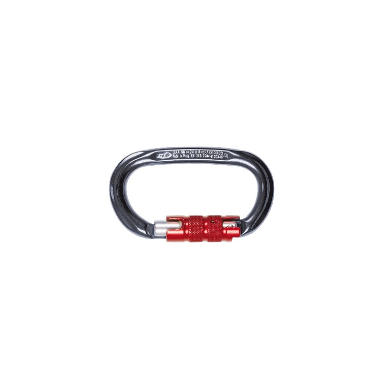 Mousqueton PILLAR TG ovale (kN 24-8-7) ouverture 21mm