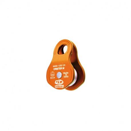Poulie simple ORBITER M à flasque mobile compacte