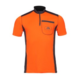 T-shirt technique manches courtes UPF+50 Orange/Gris SIP Protection