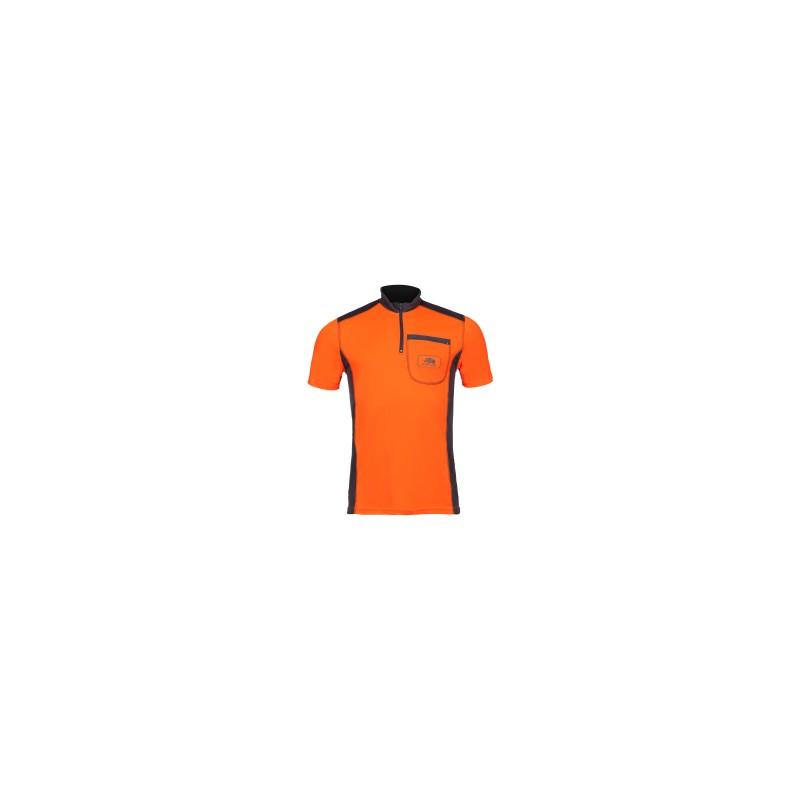T-shirt technique manches courtes UPF+50 Orange/Gris SIP Protection