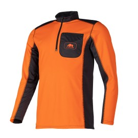 T-shirt technique manches longues UPF+50 Orange/Gris SIP Protection