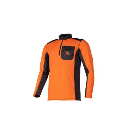 T-shirt technique manches longues UPF+50 Orange/Gris SIP Protection