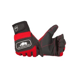 """Gants """"anti-coupures"""" 2 mains Classe 1 rouge et noir SIP Protection"""