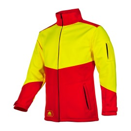 Veste softshell TIBET Jaune et rouge SIP Protection