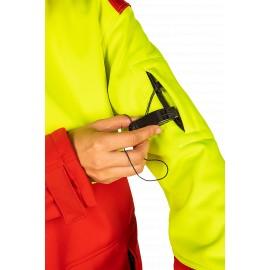 Veste softshell TIBET Jaune et rouge SIP Protection