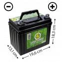 Batterie sans entretien (U1R-320) + à droite