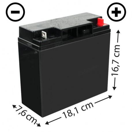 Batterie tracteur tondeuse CASTELGARDEN (CP18-12) + à droite