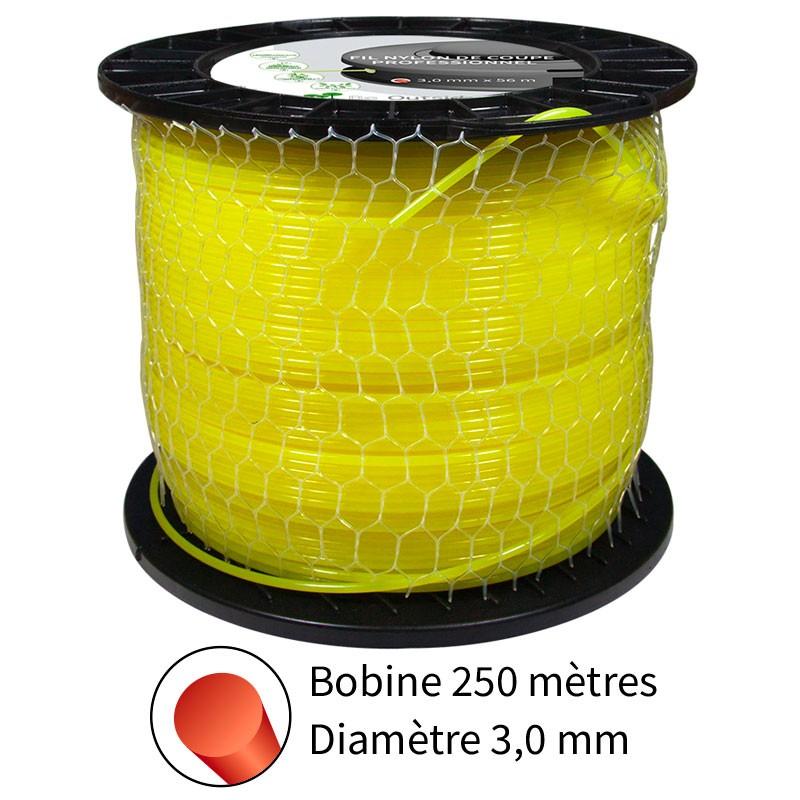 Fil rond diam. 3.0 mm pour débroussailleuse