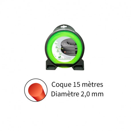 Fil rond ø2.0 mm pour débroussailleuse