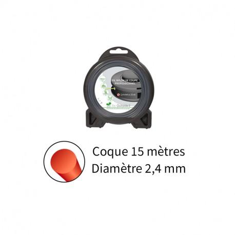 Fil rond ø2.4 mm pour débroussailleuse