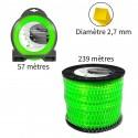 Fil carré ø2.7 mm pour débroussailleuse