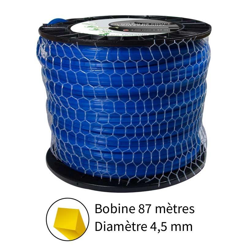 Fil carré diam. 4.5 mm pour débroussailleuse
