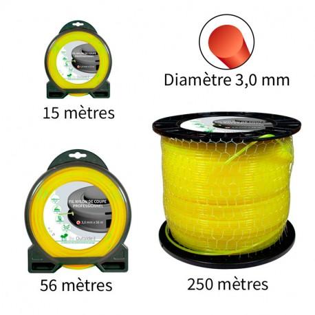Fil rond ø3.0 mm pour débroussailleuse