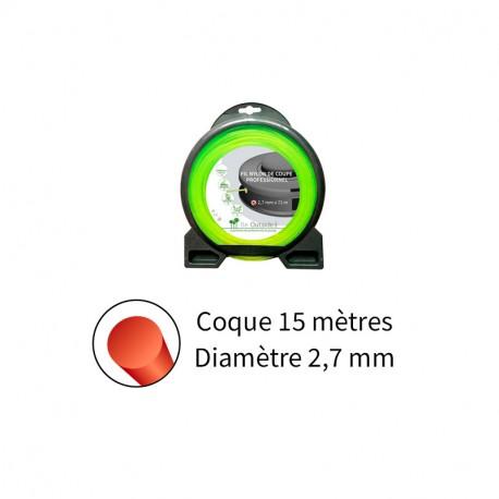 Fil rond ø2.7 mm pour débroussailleuse