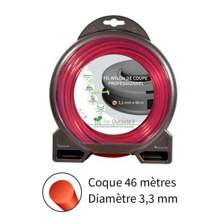 Fil rond ø3.3 mm pour débroussailleuse