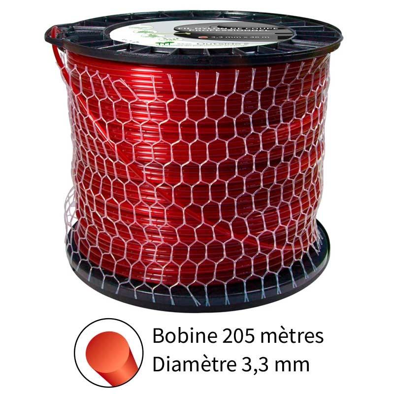 Fil rond diam. 3.3 mm pour débroussailleuse