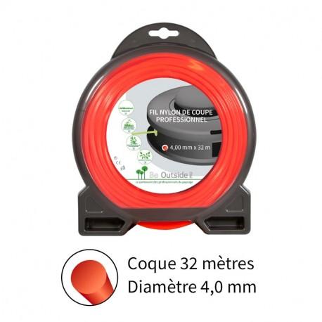 Fil rond ø4.0 mm pour débroussailleuse