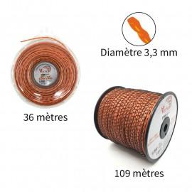 NOUVEAU Fil Vortex avec alu ø3.3 mm pour débroussailleuse