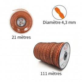 NOUVEAU Fil Vortex avec alu ø4.3 mm pour débroussailleuse