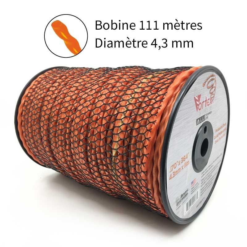 NOUVEAU Fil Vortex avec alu diam. 4.3 mm pour débroussailleuse