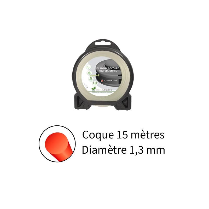 Blister fil nylon rond (15m) ø : 1,3 mm