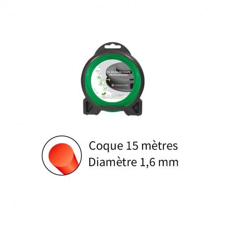 Blister fil nylon rond (15m) ø : 1,6 mm