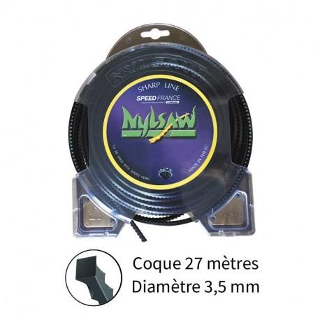 Fil nylsaw ø3.5 mm pour débroussailleuse