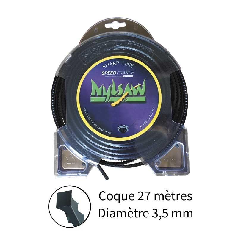 Fil nylsaw diam. 3.5 mm pour débroussailleuse