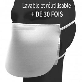 Masque premium lavable avec rabat anti-projections