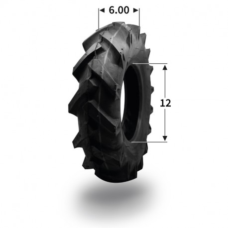 Pneumatique 6.00-12 (4 plis)