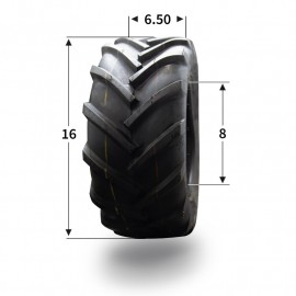 Pneumatique 16x6.50-8 (4 plis) tubeless