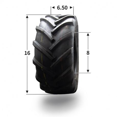 Pneumatique 16x6.50-8 (4 plis) tubeless