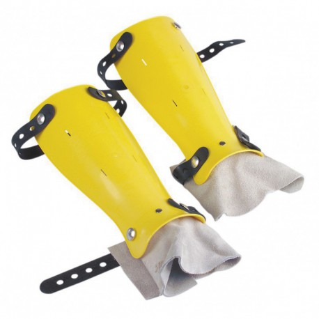Protège-tibia jaune ABS