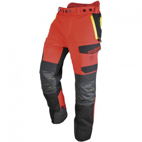 Pantalon SOLIDUR rouge et jaune Infinity