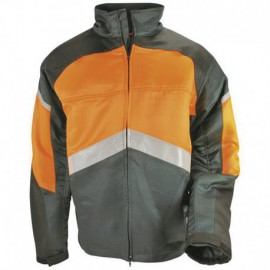 "Veste SOLIDUR dite ""anti-coupure"" (gris et orange) Authentic"